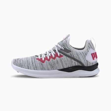 Zapatos de entrenamientoIGNITE Flash evoKNITpara mujer, Blanco-Negro-BRIGHT ROSE, pequeño