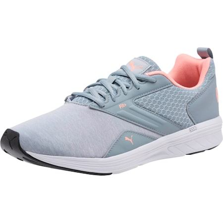 NRGY Comet Running Shoes, Quarry-Soft Fluo Peach, small-GBR