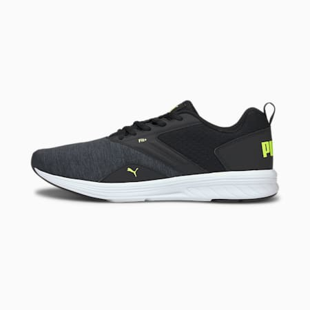 NRGY Comet Unisex Running Shoes, Puma Black-Yellow Alert, small-IND
