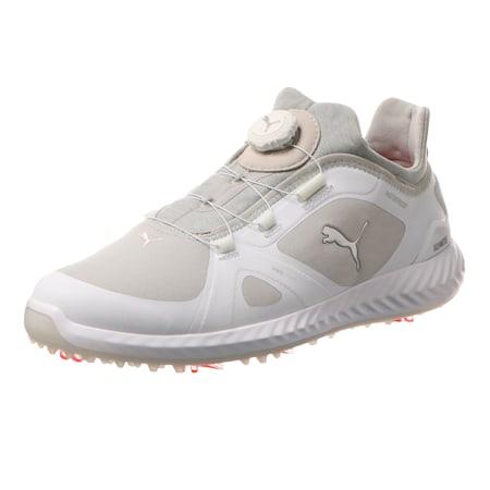 IGNITE PWRADAPT DISC Men's Golf Shoes, Puma White-Gray Violet, small-SEA