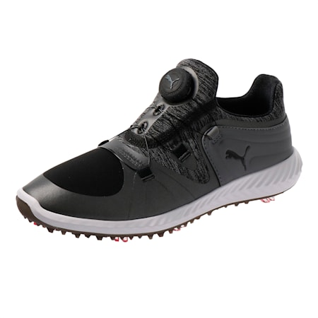 IGNITE Blaze Sport DISC Women's Golf Shoes, Black-Steel Gray, small-SEA