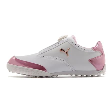 ゴルフ モノライトキャット ディスク ウィメンズ スパイクレスシューズ, White-Metallic Pink, small-JPN
