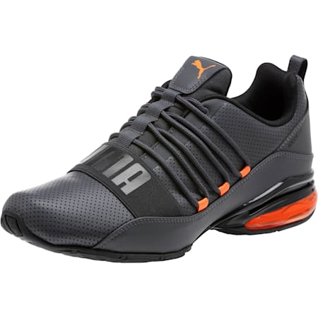 Cell Regulate Men's Running Shoes, Asphalt-Vibrant Orange, small