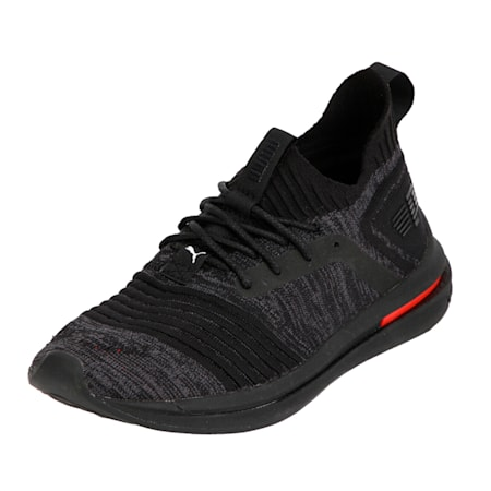 IGNITE Limitless evoKNIT Kid's Shoes, Black-Black-Asphalt, small-IND