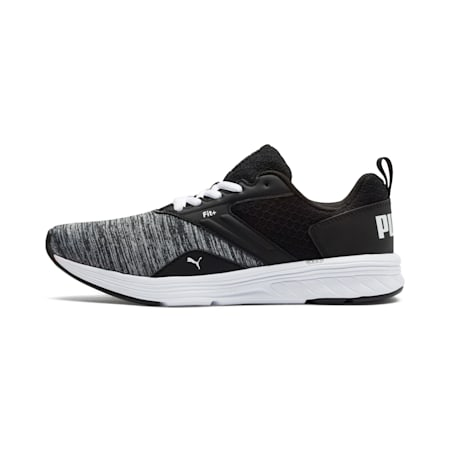 NRGY Comet Kids' Running Shoes, Puma White-Puma Black, small-IND