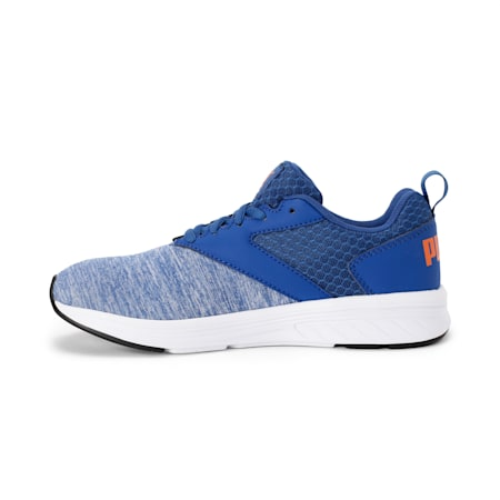 NRGY Comet Kids' Running Shoes, Galaxy Blue-White-Orange, small-IND