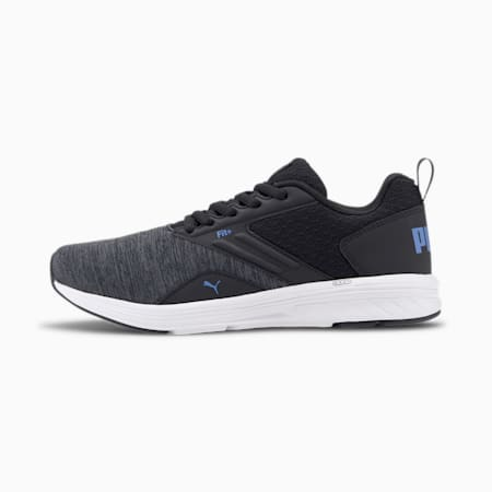 NRGY Comet Kids' Trainers, Puma Black-Palace Blue, small