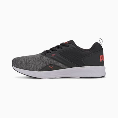 NRGY Comet Kids' Running Shoes, Puma Black-Paprika-Puma White, small-IND