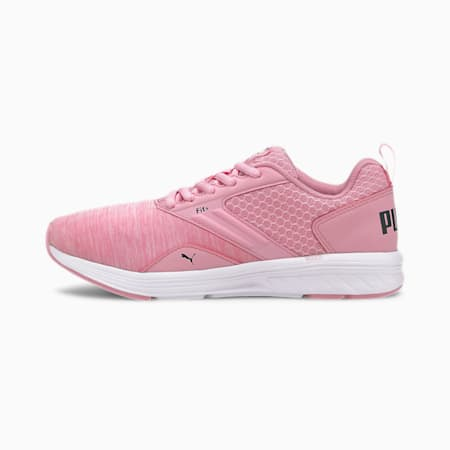 NRGY Comet Kids' Running Shoes, Pale Pink-Black-White, small
