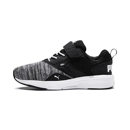 NRGY Comet Preschool Running Shoes, Puma White-Puma Black, small-IND