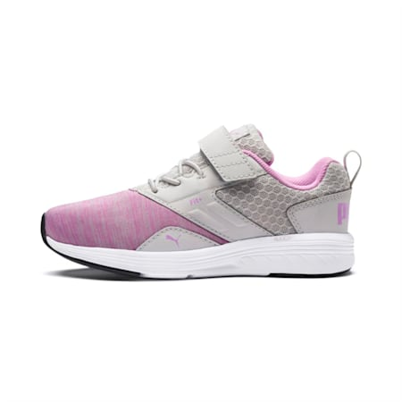 NRGY Comet Preschool Running Shoes, Gray Violet-Orchid, small-IND