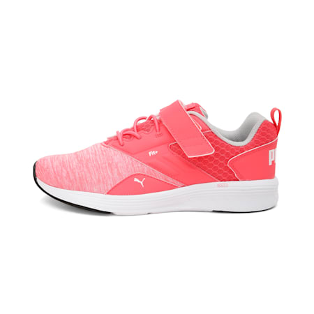 NRGY Comet Preschool Running Shoes, Calypso Coral-Puma White, small-IND