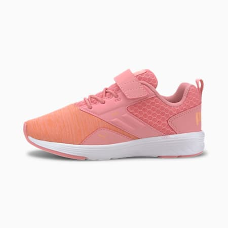 NRGY Comet Preschool Running Shoes, Peony-Cantaloupe, small-IND