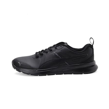 PUMA Flex Essential Youth Shoes, Puma Black-Puma Black, small-IND