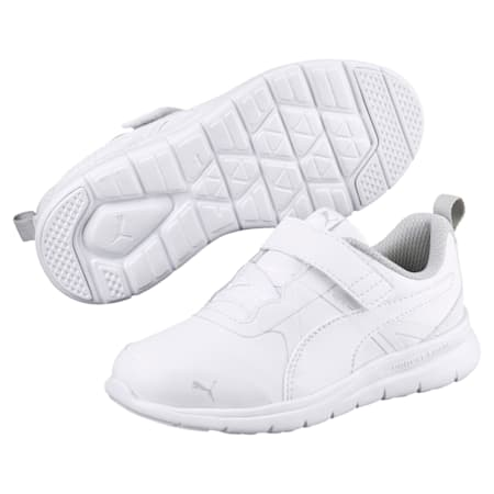 PUMA Flex Essential SL Kids' Trainers, Puma White-Puma White, small-SEA