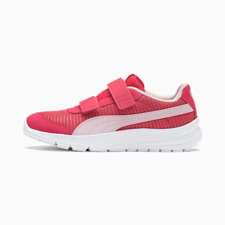 Stepfleex 2 Run Mesh V Kids' Trainers, Paradise Pink-Pearl, small