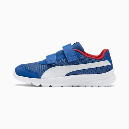 Stepfleex 2 Run Mesh V Kids' Trainers, Strong Blue-White-Red, small