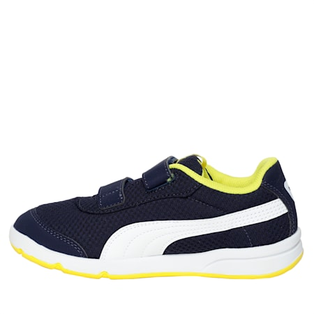 Kids Stepfleex 2 Mesh Sneakers, Peacoat-Blazing Yellow-White, small-SEA