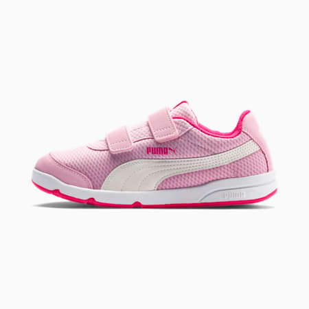 Stepfleex 2 Mesh Kids Sneaker, P Pink-W White-F Purple-Wht, small