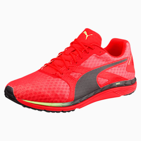 Speed 300 IGNITE 3 Men's Running Shoes, Red Blast-Black-Fizzy Yellow, small-IND