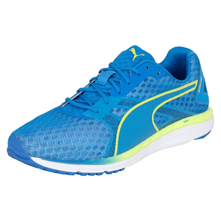 Speed 300 IGNITE 3 Women's Running Shoes, Nebulas Blue-White-Lemon, small-IND