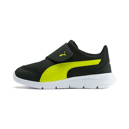 PUMA Bao 3 AC Sneakers Pre School, Puma Black-Nrgy Yellow, small-SEA
