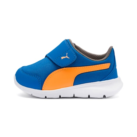 Puma Bao 3 AC Infant Sneakers, Indigo Bunting-Orange-Gray, small-SEA