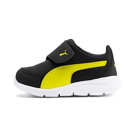 Puma Bao 3 AC Infant Sneakers, Puma Black-Nrgy Yellow, small-SEA