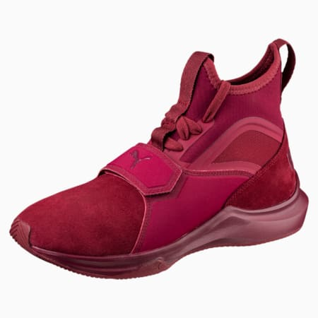 Phenom Suede Women's Training Shoes, Cordovan-Cordovan, small