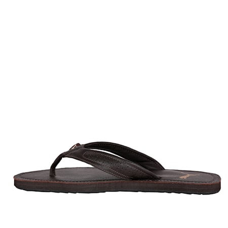 Java 2 IDP Men's Flip Flops, Chocolate Brown, small-IND