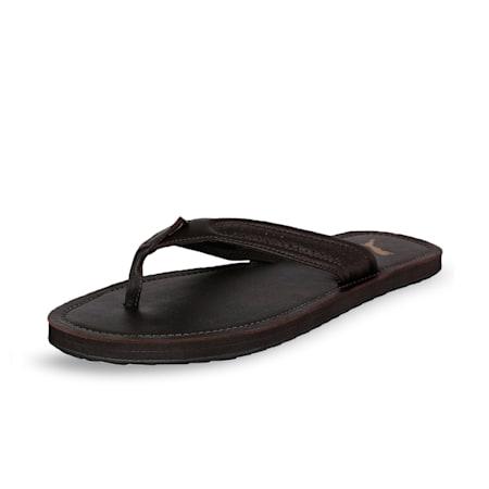 Java 2 Men's Flip Flops, Chocolate Brown-Chocolate Brown, small-IND