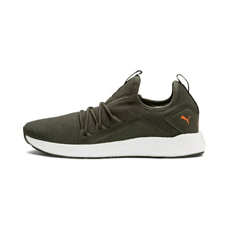 NRGY Neko Men's Running Shoes, Forest Night-Puma White, small-IND