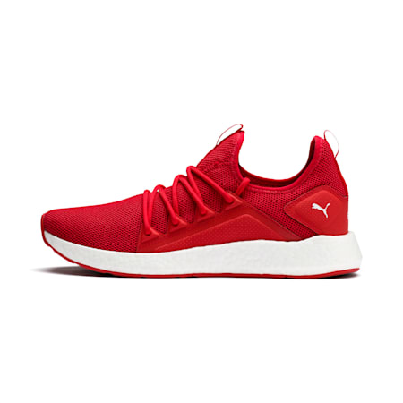 NRGY Neko Men's Running Shoes, High Risk Red-Puma White, small-IND