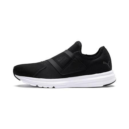 Enzo Strap 2 Running Shoes, Puma Black-Puma White, small-IND