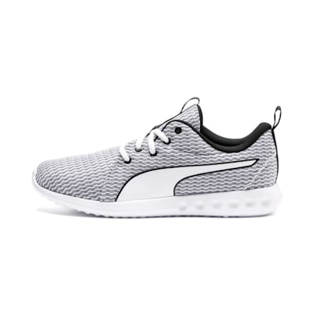Carson 2 New Core Men's Running Shoes, White-White-Black, small-IND