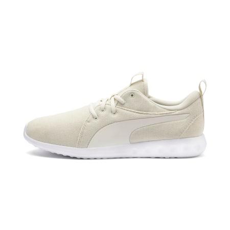 Zapatos de entrenamientotejidos Carson 2 para hombre, Blanco-Whisper White-Dorado, pequeño