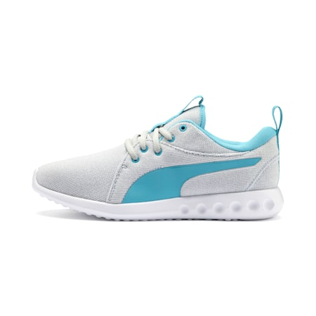 Carson 2 Knit Women's Running Shoes, Grey Dawn-White-Milky Blue, small