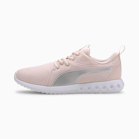 Zapatos para correrCarson 2 Knit para mujer, Rosewater-Puma Silver-Blanco, pequeño