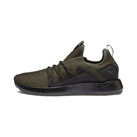 NRGY Neko Knit Men's Running Shoes, Forest Night-Puma Black, small-IND