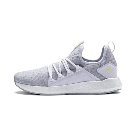 NRGY Neko Knit Men's Running Shoes, Puma White-Fizzy Yellow, small