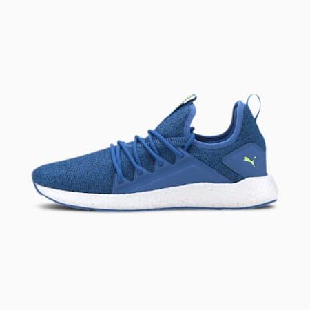 NRGY Neko Knit Men's Running Shoes, Drk Denm-Plce Blu-Ylow Alert, small
