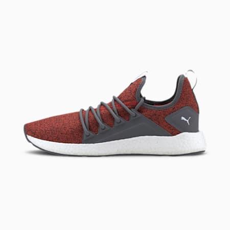 NRGY Neko Knit Men's Running Shoes, High Risk Red-CASTLEROCK, small-IND