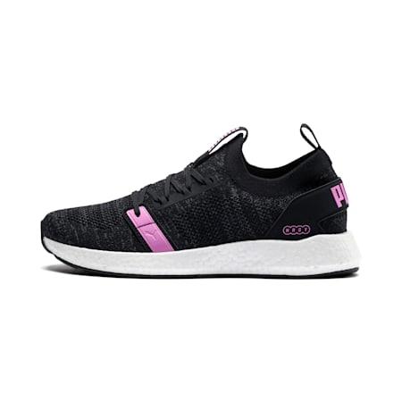 Zapatos para correr NRGY Neko Engineer Knit para mujer, Puma Black-Iron Gate-Orchid, pequeño