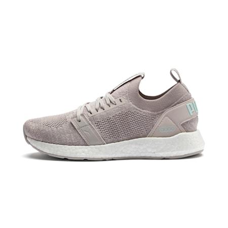 NRGY Neko Engineer Knit SoftFoam + Women's Running Shoes, Silver Gray-White-Fair Aqua, small-IND