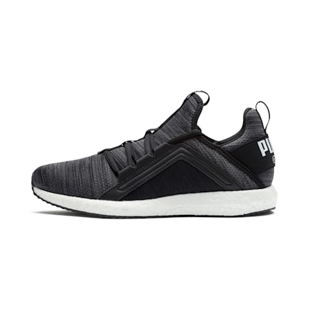 Mega Energy Heather Knit Women's Running Shoes, Black-Iron Gate-White, small-IND