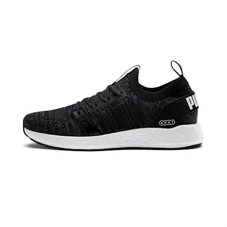 NRGY Neko Engineer Knit Men's Running Shoes, Puma Black-Iron Gate, small-IND