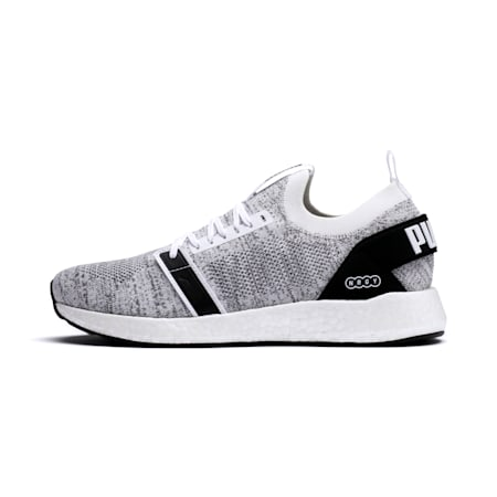 NRGY NEKO ENGINEER KNIT Men's Running Shoes, Puma White-Puma Black, small