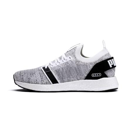 NRGY NEKO ENGINEER KNIT Men's Running Shoes, Puma White-Puma Black, small-IND