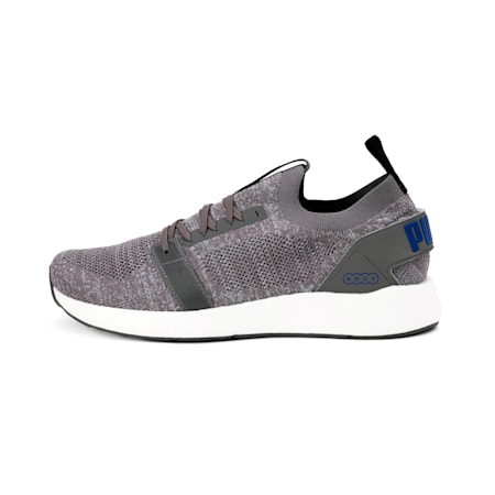 NRGY NEKO ENGINEER KNIT Men's SoftFoam+ Running Shoes, Charcoal Gray-Galaxy Blue, small-IND