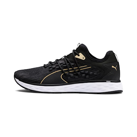 SPEED FUSEFIT Men's Running Shoes, Black-White-Taos Taupe, small-SEA